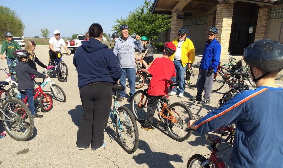 Mayor's Bike Ride Winterset Iowa