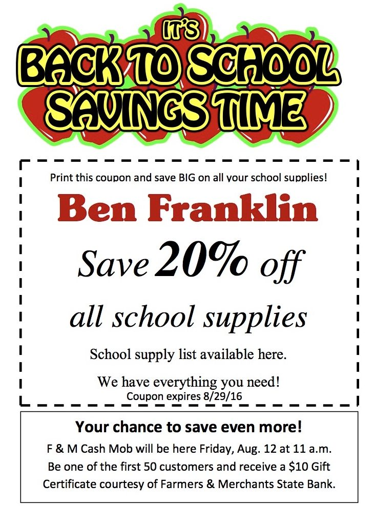 photo about Ben Franklin Coupons Printable known as The Winterset Citizen - Aspect 171