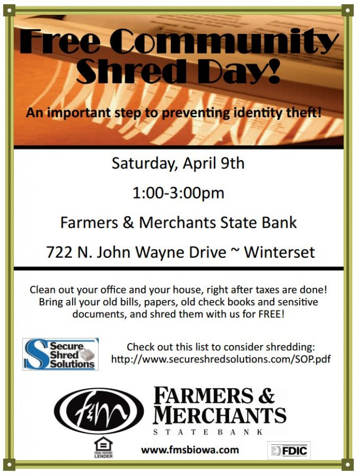 Free Shred Day Winterset
