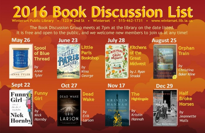 Library Book Discussions Summer 2016