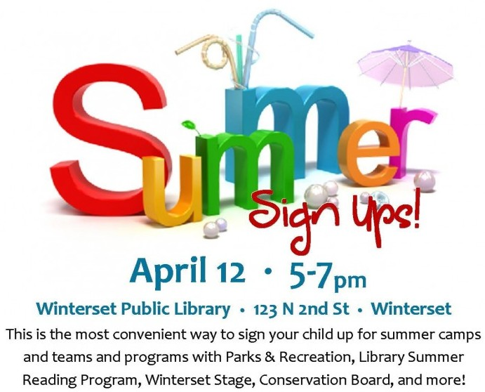 Library Summer Sign ups Winterset