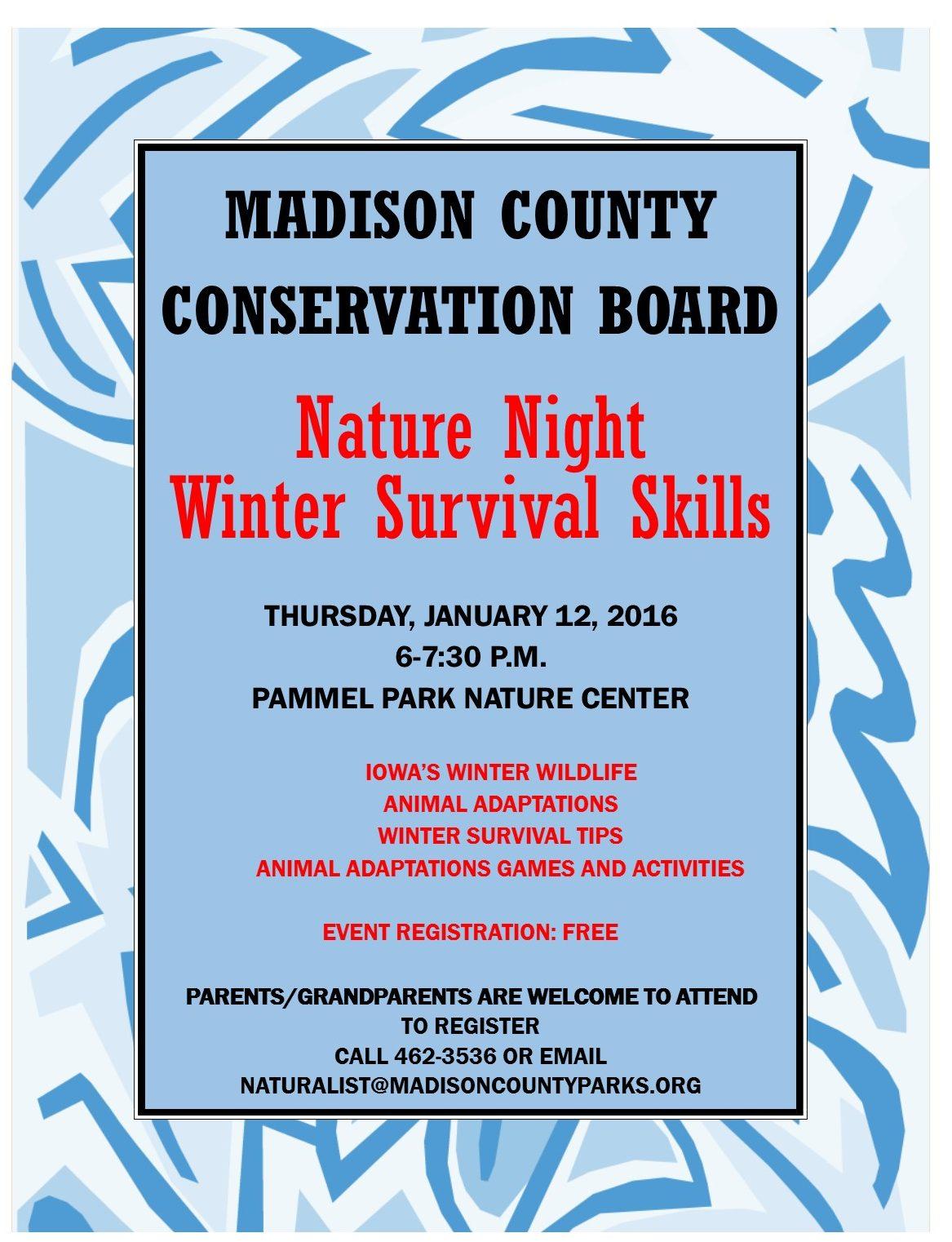 Nature Night Winter Survival Flyer -3
