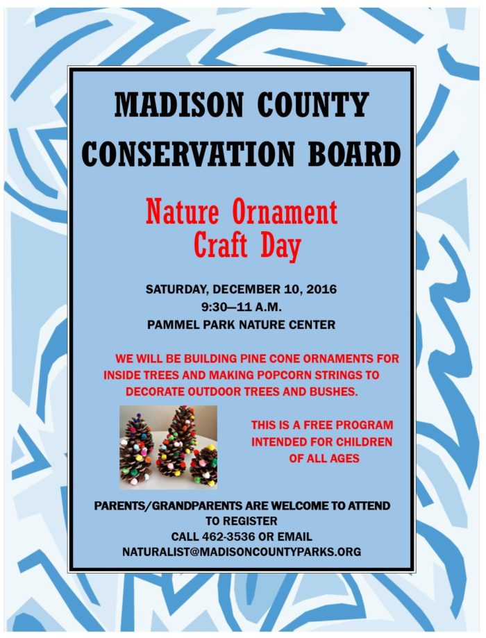 Nature Ornament Craft Day Flyer