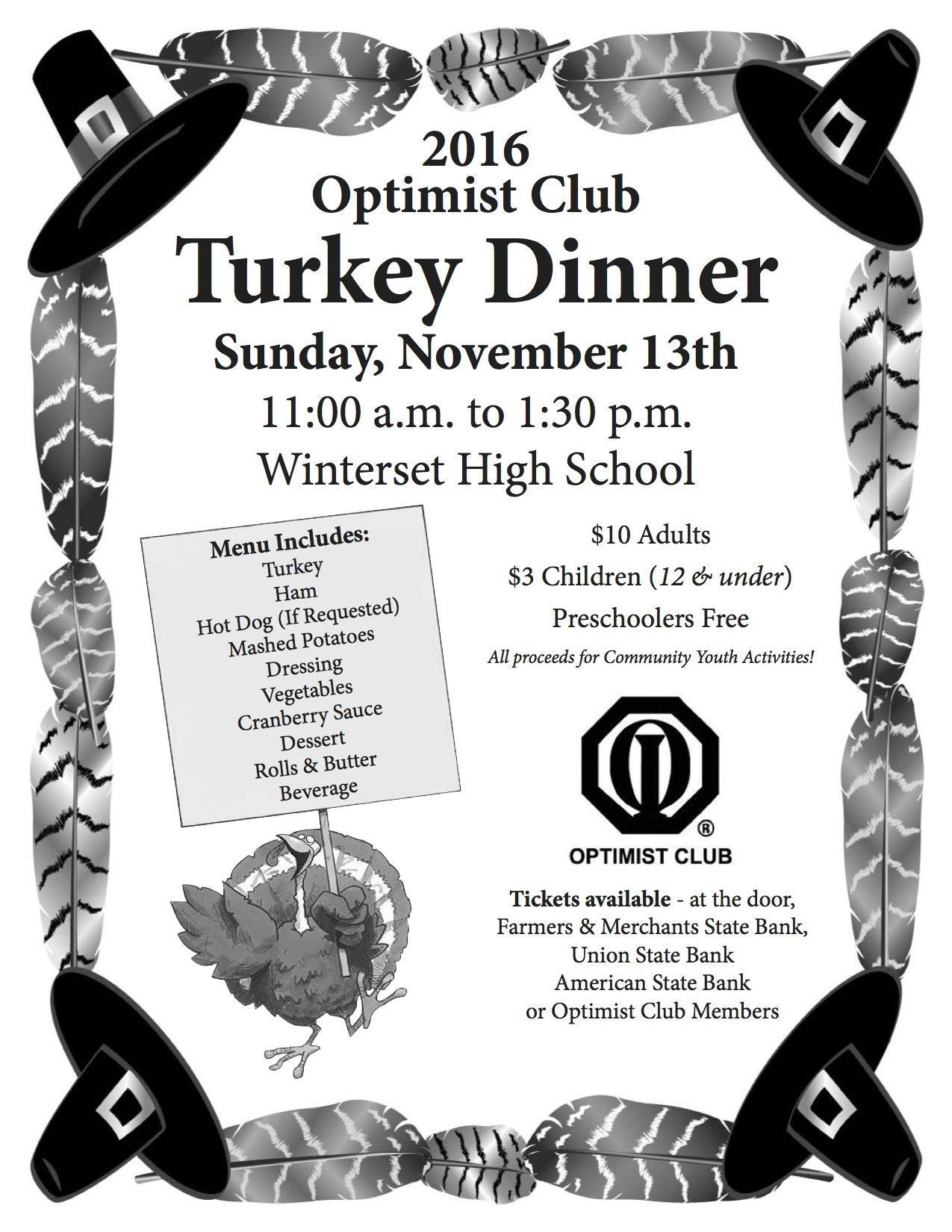 Optimist Club 2016 Turkey Dinner