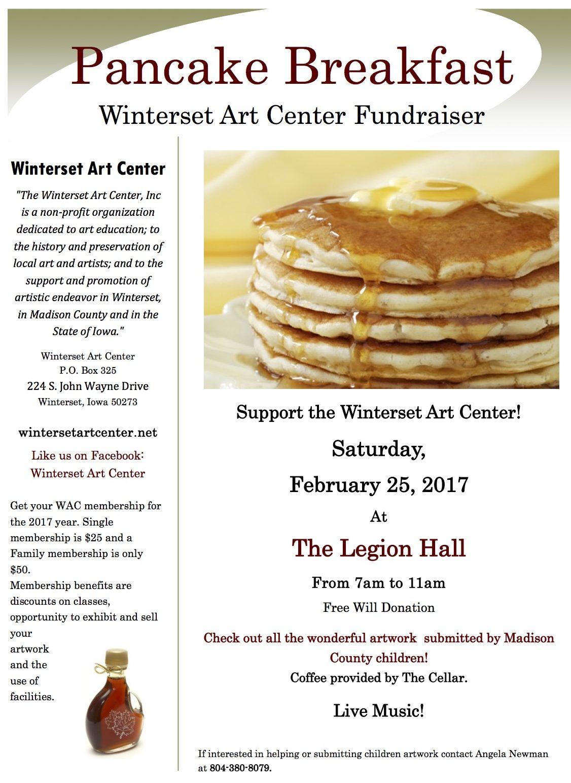 Pancake day flyer