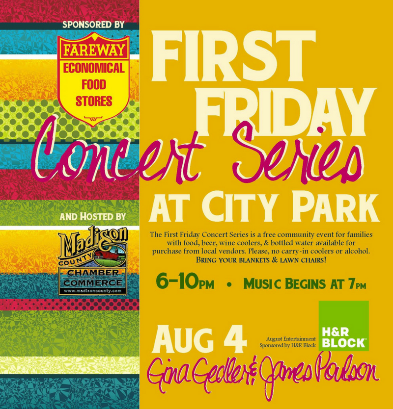 First Friday Concert Series Winterset Iowa
