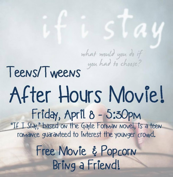Winterset Library After Hours Movie April 8
