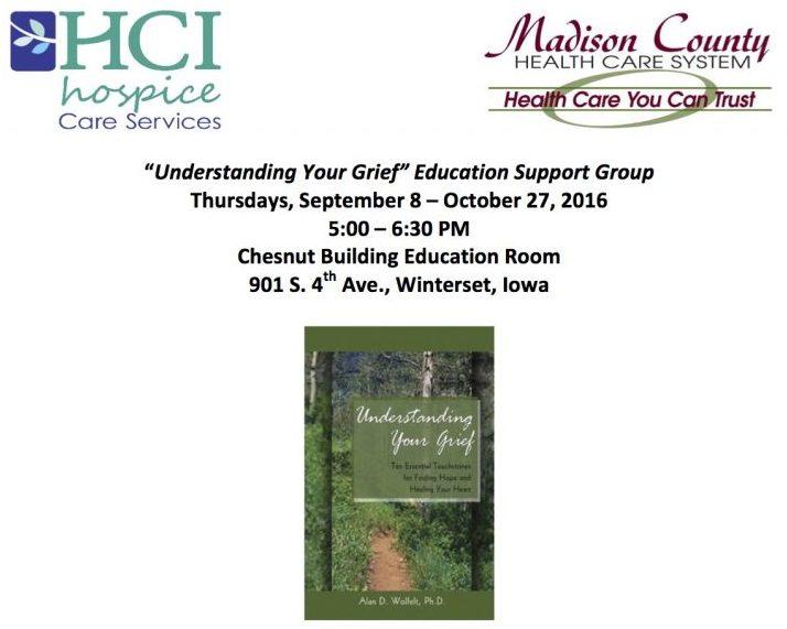 Winterset Understanding Your Grief Flyer September 2016