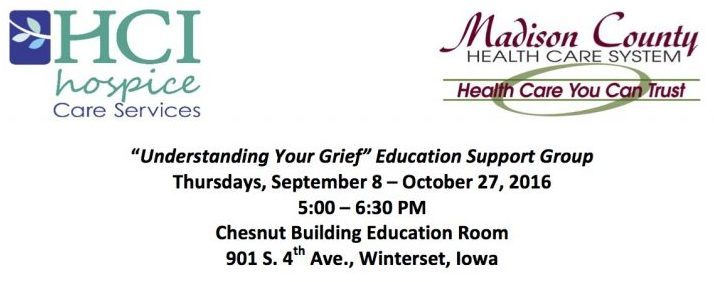 Winterset Understanding Your Grief Flyer September 2016